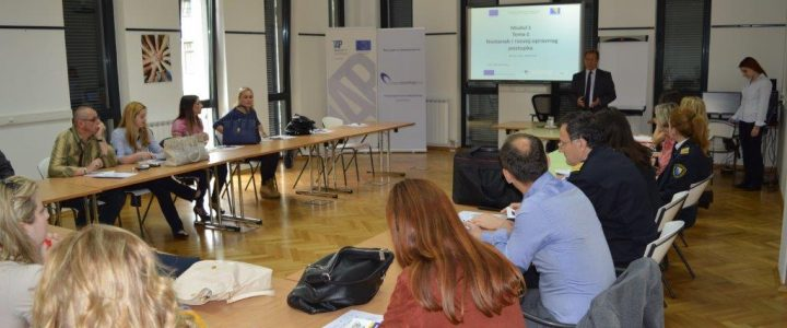 Training cycle for the 1,500 civil servants at all levels held in BiH