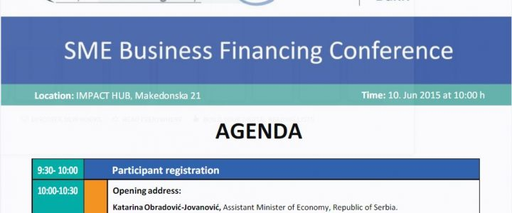 """Conference """"FINANCING FOR GROWTH: FINANCIAL SUPPORT TO SMEs IN SERBIA"""""""